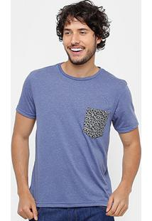 Camiseta Tigs Bolso Micro Print Masculina - Masculino