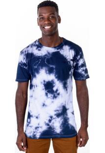 Camiseta Gang Full Print Tie Dye Azul