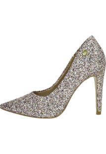 Scarpin Week Shoes Salto Alto Glitter Fruit Collors