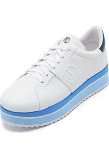 573723486 Dafiti. Calçado Tênis Feminino Branco Azul Dumond ...