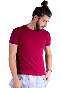 Camiseta Mister Fish Básica Cotton Masculina - Masculino-Vinho