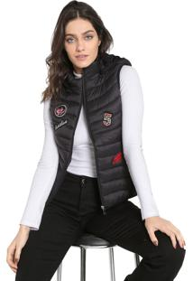 Colete Puffer Facinelli By Mooncity Patchs Preto
