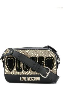 Love Moschino Bolsa Tiracolo Com Bordado Love - Preto
