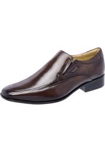 Sapato Social Sândalo Vermont Elástico Marrom