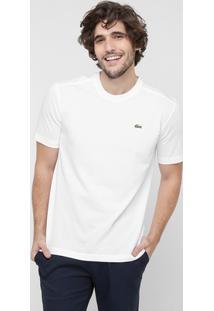 Camiseta Lacoste Gola Careca - Masculino-Branco