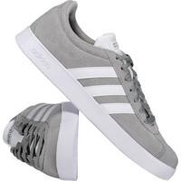 24ad33821f Tênis Adidas Vl Court 2.0 Cinza E Branco Fut Fanatics
