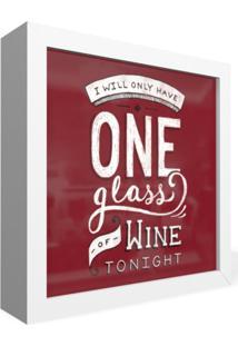 Quadro Adoraria Caixa Frontal One Day Wine Vinho Multicolorido