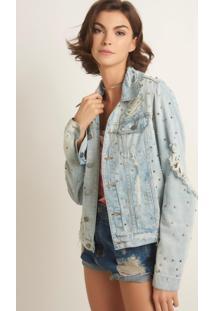 Jaqueta John John Springdale Jeans Azul Feminina (Jeans Medio, Gg)