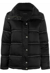 John Richmond Studded Puffer Jacket - Preto