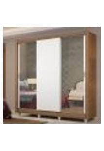 Guarda-Roupa Casal Madesa Lyon Plus 3 Portas De Correr Com Espelhos 4 Gavetas Com Pés