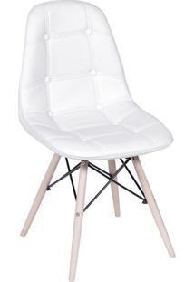Cadeira Eames Botonãª- Branca & Bege Claro- 83X44X39Cor Design