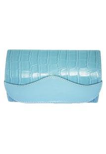 Clutch Dona Constance Crocodilo Azul