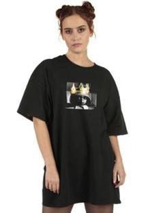 Camiseta Skull Clothing Lamar King Feminina - Feminino-Preto