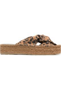 Jimmy Choo Sandália Daja Com Estampa De Leopardo E Salto 45Mm - Neutro