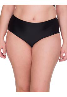 Calcinha Hot Pant Microfibra Plus Size - Preto - 1Xl