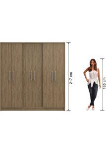 Guarda-Roupa 6 Portas Decibal Rp4630 Wood Se