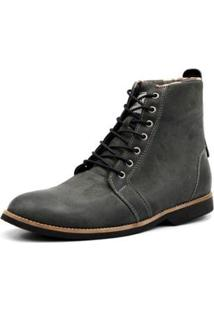 Bota Shoes Grand Cano Baixo Masculina - Masculino-Cinza