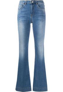 Pinko Calça Jeans Flare Flora - Azul
