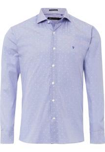 Camisa Masculina Office - Azul