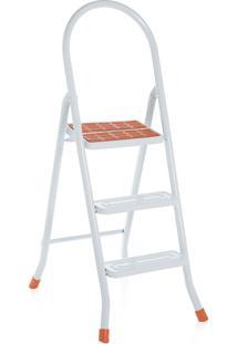 Escada Maxiutil Branco 3Degraus