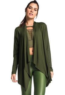 Cardigan Liso- Verde Militar- Vestemvestem