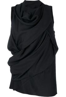 Rick Owens Draped Blouse - Preto