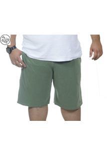 Bermuda Plus Size Bigshirts Moletinho - Verde