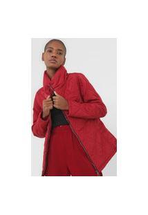 Jaqueta Queens Paris Pespontos Vermelha