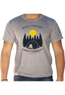 Camiseta Masculina Eco Canyon Wild Forest Cinza