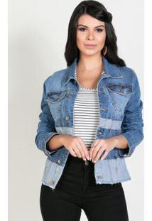 Jaqueta Bicolor Jeans Sawary