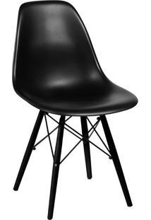 Cadeira Com Base Preta 1102-Or Design - Preto