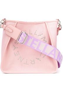 Stella Mccartney Bolsa Transversal Stella Com Logo - Rosa