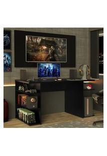 Mesa Para Computador Gamer E Painel Para Tv Até 50 Madesa Preto Preto