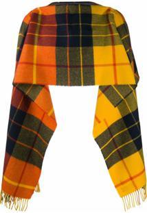 Comme Des Garçons Shirt Cachecol De Lã Com Padronagem Xadrez - Amarelo