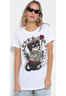 Camiseta My Favorite Thing (S) Alongada Estampada Feminina - Feminino