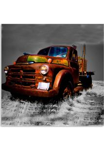 Quadro Caminhão Velho Uniart Terra 30X30Cm