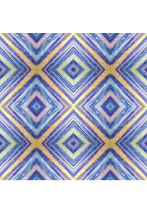 Papel De Parede Adesivo Geométrico Azul (0,58M X 2,50M)