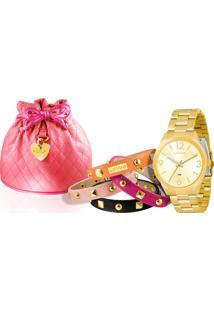 Kit Relógio Feminino Lince Lrg4250L K061C2Kx