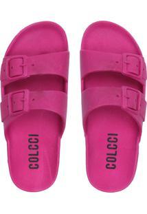 Rasteira Birken Colcci Fivelas Pink