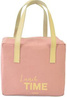 Bolsa Térmica Quadrada Lunch Time Rose - Boxmania