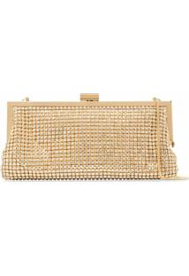 Black & Brown Laura Crystal Clutch Bag - Dourado