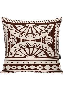 Capa De Almofada African- Bege & Marrom Escuro- 42X4Stm Home