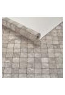 Papel De Parede Lavavel Textura Ladrilhos Pastilha Marrom