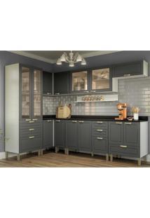 Cozinha Completa 9 Peã§As Americana Multimã³Veis 5650 Branco/Grafite - Branco/Incolor - Dafiti