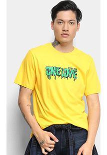 Camiseta Cavalera One Love Masculina - Masculino-Amarelo