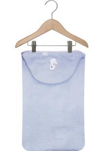 Toalha De Banho Catavento Capuz Forrada Azul