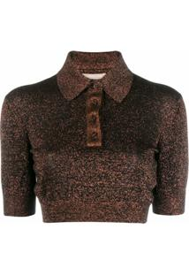 Michael Michael Kors Camisa Polo Com Detalhe De Glitter - Neutro