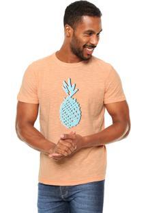 Camiseta Osklen Estampada Laranja