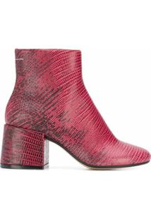 Mm6 Maison Margiela Bota Estampada - Rosa