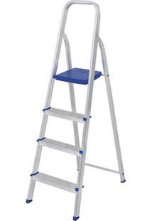 Escada Alumínio 4 Degraus - Unissex